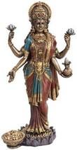 "Lakshmi 10"" figure goddess statue Cold cast resin. 10"" x 5 1/4"" x 3 1/4"" - $65.00"