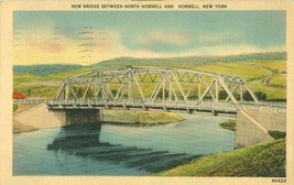 New Bridge between North Hornell and Hornell, New-York 1943 used Postcard  - $3.50