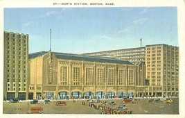North Station, Boston, Mass early 1900s unused Postcard  - $3.99
