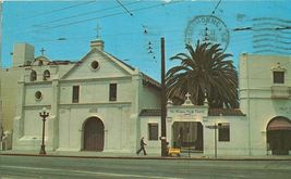 Old Mission Plaza Church, Los Angeles, California 1968 used Postcard  - $4.99