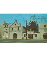Old Mission Plaza Church, Los Angeles, California 1968 used Postcard  - $4.99