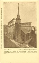 Old South Meeting-House, Boston old unused Postcard  - $6.77