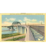Peace Bridge Crossing Niagara River Between Buffalo N.Y and Fort Erie po... - $4.77