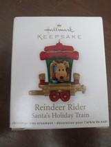 HALLMARK KEEPSAKE ORNAMENT Reindeer Rider-Santa's Holiday Train - 2011 - $6.00