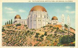 The Planetarium, Griffith Park, Los Angeles, California 1937 used linen Postcard - $3.99
