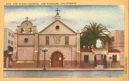 The Plaza Church, Los Angeles, California unused linen Postcard  - $3.99