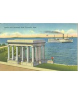 Portico over Plymouth Rock, Plymouth, Mass 1951 used linen Postcard  - $5.00