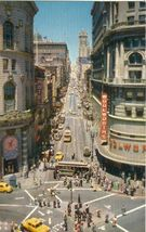 Powell at Market Street, Showing Turntable, San Francisco 1950s unused Postcard - $5.77