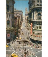 Powell at Market Street, Showing Turntable, San Francisco 1950s unused P... - $5.77