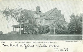 President Roosevelt's Home, Oyster Bay, L.I New York 1906 used Postcard  - $4.99