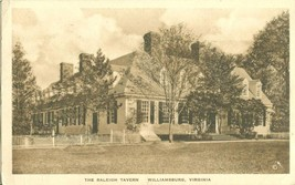 The Raleigh Tavern, Williamsburg, Virginia 1936 used Postcard  - $7.99