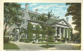 Residence of George Eastman, Rochester, New York early 1900s used Postcard  - $4.99