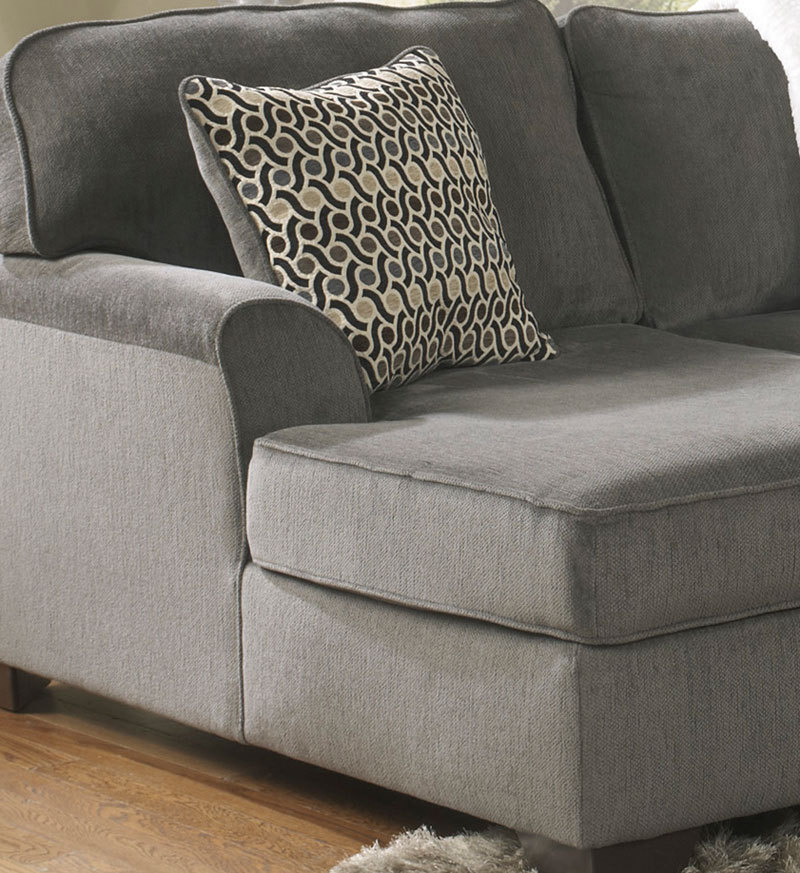 Sectional Gray Sofa Set: SOLE-OVERSIZED MODERN GRAY FABRIC SOFA COUCH SECTIONAL SET