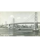 San Francisco, Oakland Bay Bridge old unused real photo RPPC Postcard  - $7.99