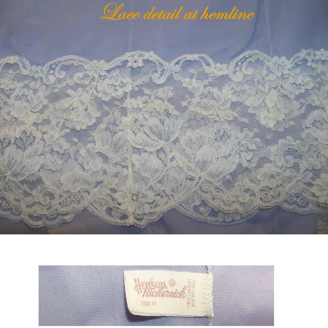 vtg slip Lavender semi sheer lace bodice B34 small