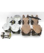 2 Pair Vintage 1950s Steel Roller Skates Adjustable Springfield Sealand ... - $37.39