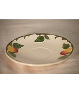 The Delicious Apple Villeroy & Boch Saucer Yellow Red Apples Green Leave... - $12.86