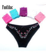 Free shipping 5pcs lot women s cotton panties girl briefs ms cotton thong sexy fashion thumbtall