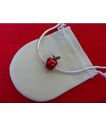 NEW Disney Princess Theme Charm - Snow White's Red Enamel Apple Green CZ... - $11.99