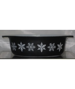 Pyrex snowflake black 1 12 quart casserole 043 thumbtall