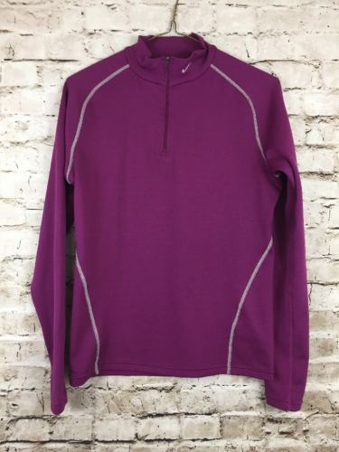 0f573a34 NIKE SPHERE DRY Youth Girl's Size L 12-14 Long Sleeve Mesh Purple Training  Top