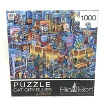 Big Ben Cat City Blues 1000 Piece Jigsaw Puzzle, Bill Bell, Pets Cats New In Box - $15.83