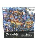 Big Ben Cat City Blues 1000 Piece Jigsaw Puzzle, Bill Bell, Pets Cats Ne... - $15.83