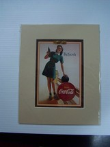 Coca-Cola Reproduction Refresh Matted Print - NEW  CC-24  FREE SHIPPING - $7.43