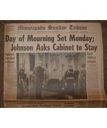 NOVEMBER 24,1963 KENNEDY- DAY OF MOURNING / MPLS SUN TRIBUNE - $30.00