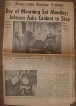 NOVEMBER 24,1963 KENNEDY- DAY OF MOURNING / MPLS SUN TRIBUNE image 2