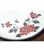 Vintage Cake Plate Superior Hall Red Poppy Dinnerware Serving Platter Ta... - $49.99