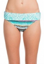 Kenneth Cole Reaction Bikini Bottom Sz M Aqua Blue Banded Waist Swimwear... - $16.44
