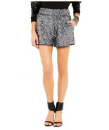Karl Lagerfeld Sabine Silver Gray Sequined Shorts F36 US 4-6 - $185.00