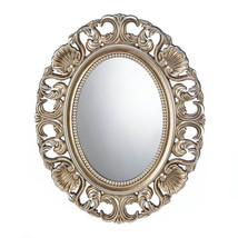 Gilded Golden Finish Oval Wall Mirror Perfect for Entryway, Bedroom, Bathroom - $48.95
