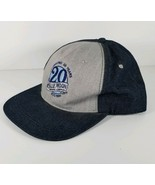 Blue Moon Beer 20th Anniversary Hat, Jean Denim Gray Embroidered Snapbac... - $11.78