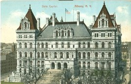 State Capitol, Albany N.Y early 1900s unused Postcard - $3.99