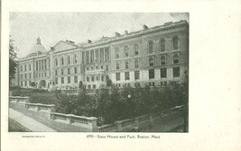 State House and Park, Boston, Mass early 1900s unused Postcard  - $6.77