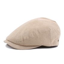 Mens Vintage Solid Beret Cap Outdoor Sport Buckle Adjustable Warm Golf Hats - $24.28