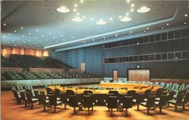 United Nations, Security Council Chamber, new York  1953 used Postcard  - $3.99