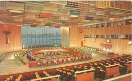 United Nations, Trusteeship Council Chamber, New York 1950s unused Postcard  - $3.99