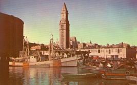 A Vista of Boston Harbor, Massachusetts old unused chrome Postcard  - $5.77