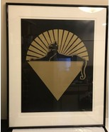 1987 Studio-gold  Silkscreen Cats Under The Stars Jerry Garcia Poster Fr... - $2,969.01