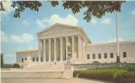 Washington DC – The Supreme Court Building - 1950s unused chrome Postcard - $5.00