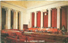 Washington DC  U.S Supreme court Court Room 1950s unused chrome Postcard  - $5.00