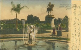 Washington's Statue, Public Garden, Boston, Mass 1907 used Postcard  - $5.77