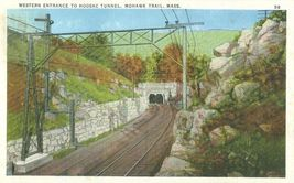 Western Entrance to Hoosac Tunnel. Mohawk Trail, Mass 1920s unused Postcard  - $4.25