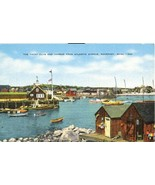 The Yacht Club and Harbor, Rockport, Mass old unused Postcard  - $5.50