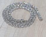 5.50 Ct Round Cut D\VVS1 Diamond 14k White Gold Over Tennis Necklace 16inc - €244,81 EUR