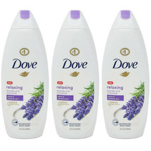 3 PACK DOVE RELAXING BODY WASH, LAVENDER OIL AND CHAMOMILE, 22 OZ - $38.61
