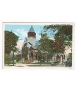 Hoyt Library Saginaw Michigan 1920s postcard - $4.46